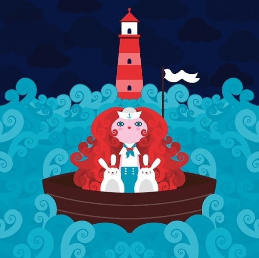 The Lighthouse : KipiKaPopo — Design, Art Direction & Illustration #illustration