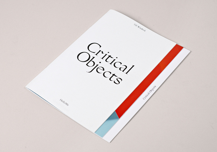 HelloMe_CriticalObjects_Catalogue40 #cover #typography