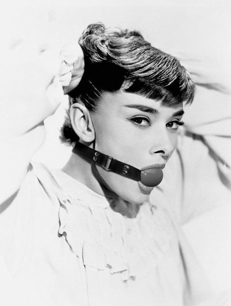 ▲ Oh, Audrey! #audrey #movie #belt #ball #photo #look #lips #sado #maso #vintage #star #face #sex