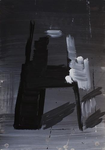 Christian Vetter - SPRACHE #white #black #vetter #painting #and #letterform #christian