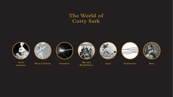 The World of Cutty Sark #interactive #ux #of #design #world #interface #ui #the #sark #kiosk #cutty