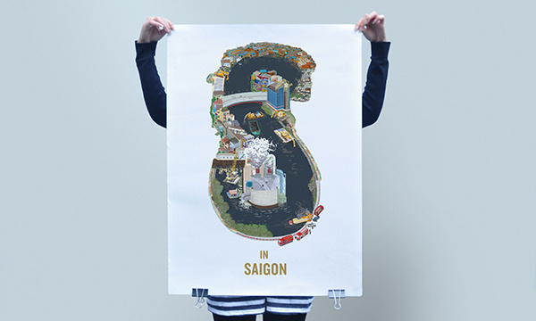 Saigon illustrations by Egregius #letters #design #illustration #saigon #type