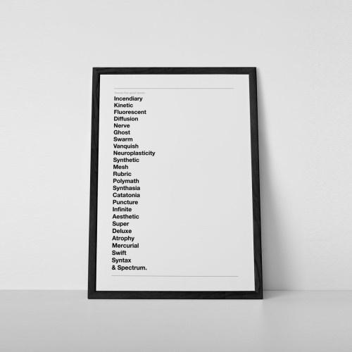 """Great Words"" Print"