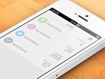 Static #flat #iphone #app #static