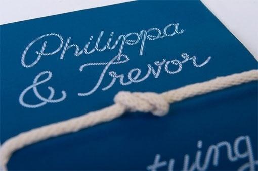 Design Work Life » SilentPartner: Philippa & Trevor Wedding Stationery #rope #wedding #invitation