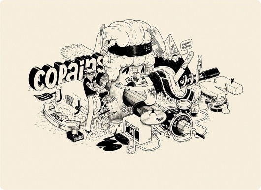 Matthieu Bessudo x Copains | BLDG//WLF #illustration