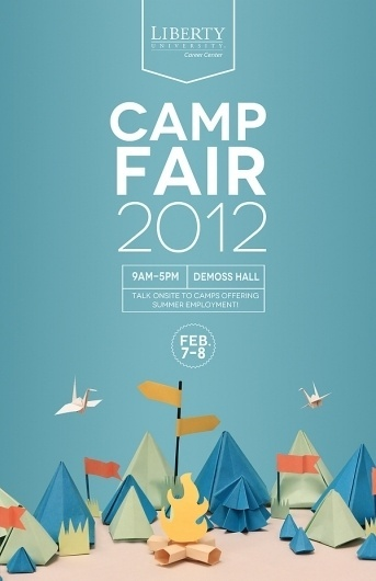 Promotional Poster on the Behance Network #print #design #graphic #camp #fair #poster #art #paper