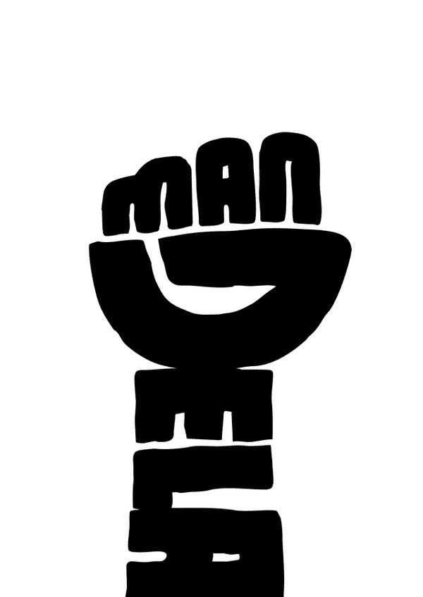 Joel Guenoun - Mandela #mandela #poster #typography