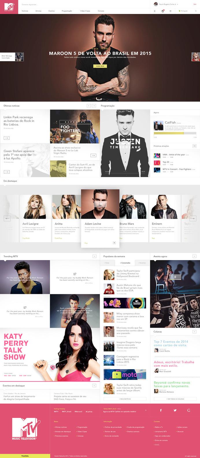 MTV – Redesign & Rethinking #web design #ui #ux #interface #mtv