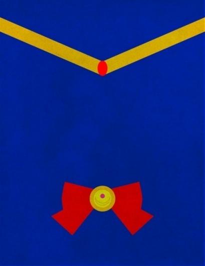 sun & river #nerd #vector #sailor #illustration #anime #minimal #minimalist #moon