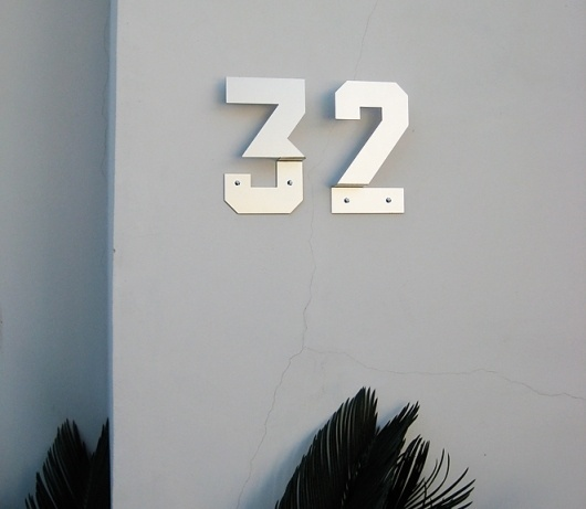 House Numbers #house #byrom #design #number #type #andrew