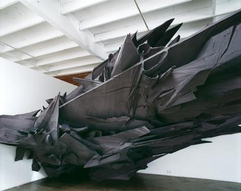Schatten28 #28 #vordermaier #sculpture #basotect #black #wood #sonja #schatten #aluminium
