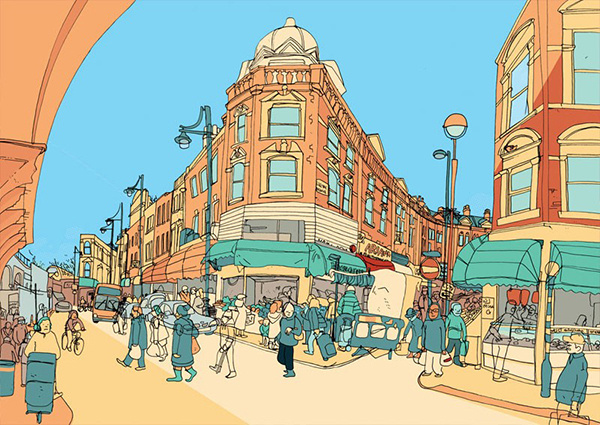 Sweet View Limited edition drawings of London by Jack Noel #streets #drawings #design #borough #illustration #england