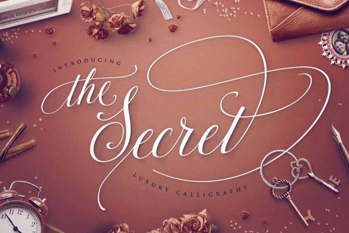 TheSecret: Luxury Calligraphy Script