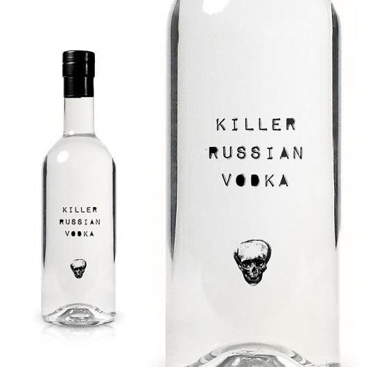 Killer Russian Vodka : TACN Studio #canada #packaging #vancouver #alcohol #minimal #vodka #russia #skull #typography