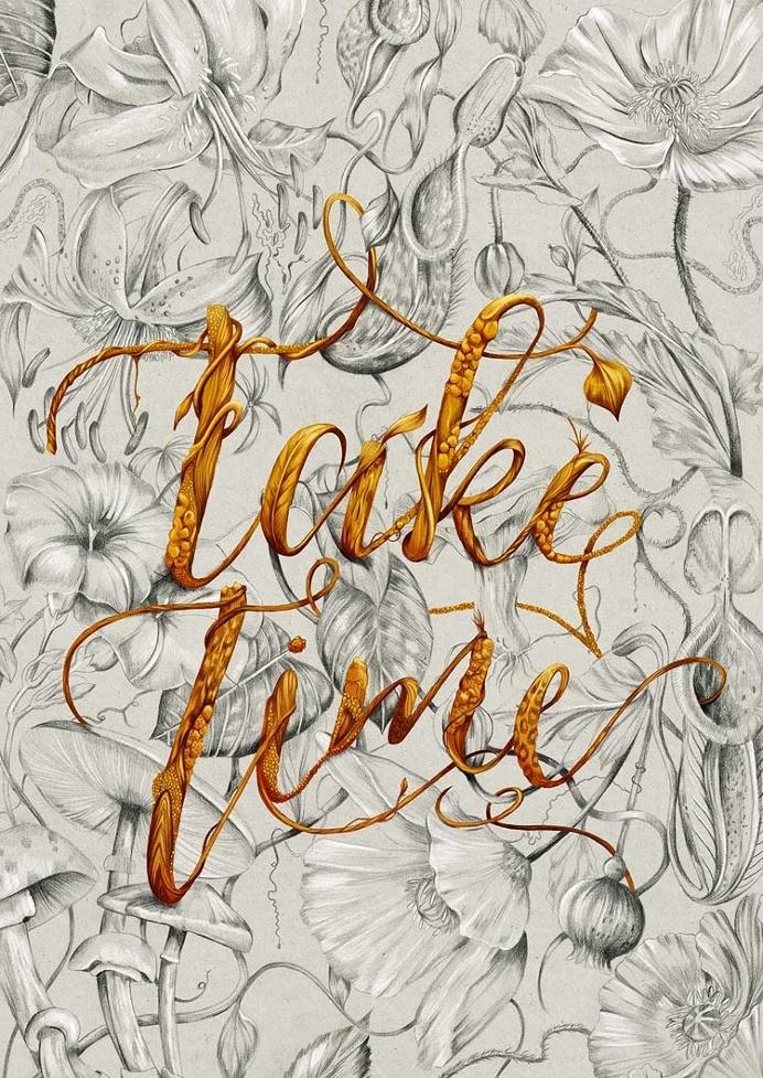 Illustrative Floral Typography