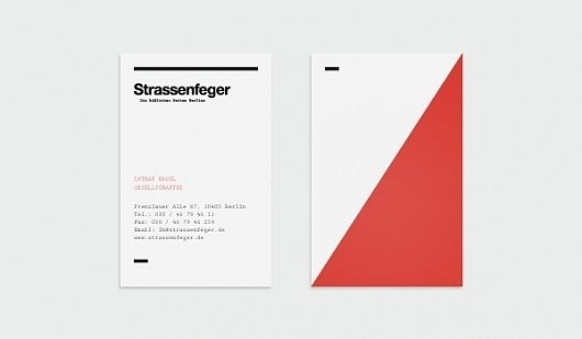Visual identity concept / Strassenfeger on the Behance Network #strassenfeger #poster #clean