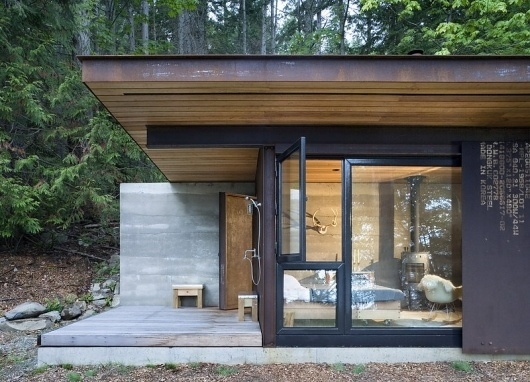 Olson Kundig Architects - Projects - Gulf Islands Cabin #corten #tom #architecture #cabin #kundig