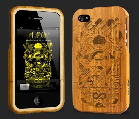 BAMBOO iPHONE CASE | STUBBORN SIDEBURN® #iphone #illustration #vector #wood