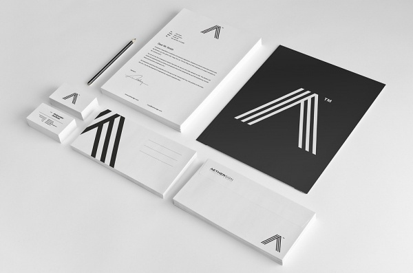 Aether Sign™ / Corporate identity #white #black #corporate #identity #minimalis