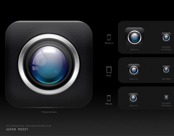 Cam App iPhone Icon PSD #icon #iphone #design #app