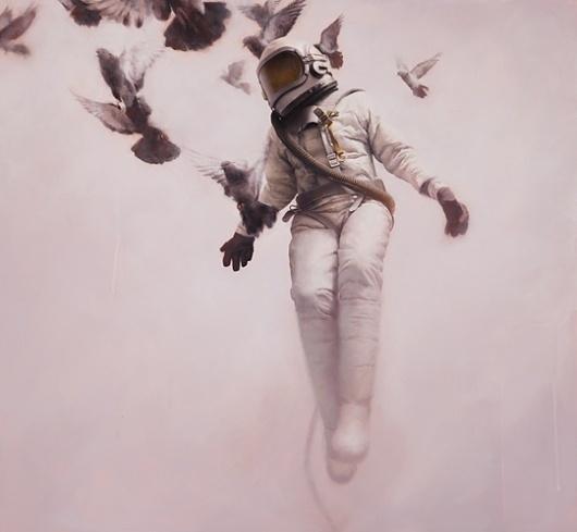 Jeremy Geddes 'Cosmonaut' Prints - mashKULTURE #geddes #astronaut #space #cosmonaut #painting #jeremy #oil