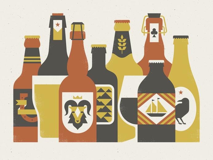 Beer_print #beer #illustration #bottle