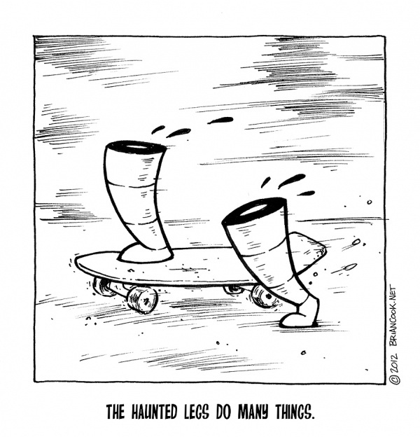 Haunted Legs | Brian Cook Illustration #legs #haunted #cook #skateboard #brian