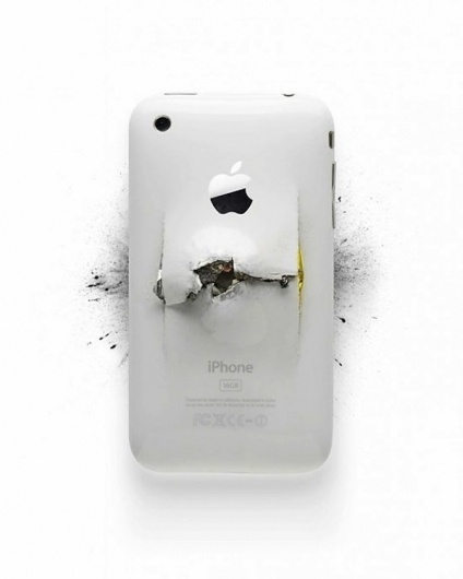 Destroyed Apple Products by Michael Tompert & Paul Fairchild | 123 Inspiration #tompert #destroyed #apple #michael