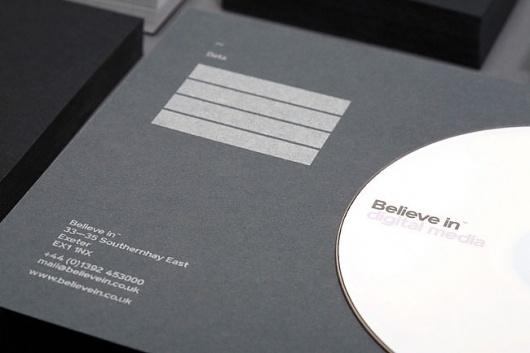 Believe in | Identity Designed #white #duplex #silver #print #in #black #believe #grid #stationery #foil #grey