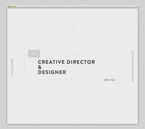 The Portfolio of Sang Han #website #layout #design #web
