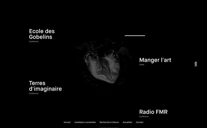 Maeva Barrier webdesign website web inspiration trend 2016 dark black typography animation java javascript new modern best beautiful graphic