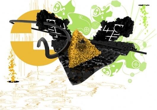 Anton Build #yellwo #graphic #black #deisgn #green
