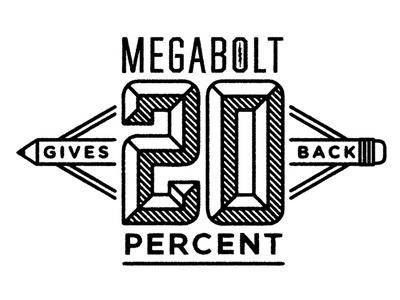 Dribbble - Megabolt 20% Gives Back by Brett Stenson #logo #line #art