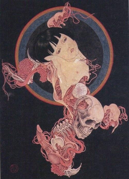 Restless Heart #skull #disemboweled