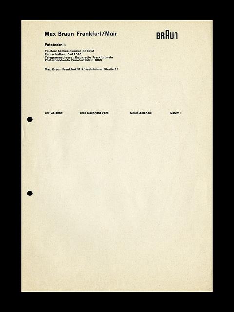 Braun Letterhead #peter #braun #layout #letterhead #seitz #typography