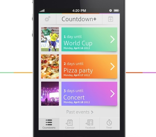 Countdown+ on the Behance Network #user #interface #ui #iphone #gui
