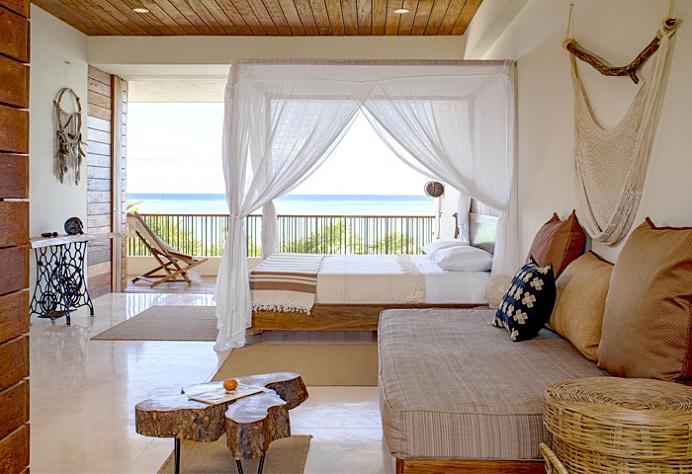 Casa Xixim Combine Natural Materials with Exotic View - bedroom, bedroom design, bed, bedroom decorating, #bedroom