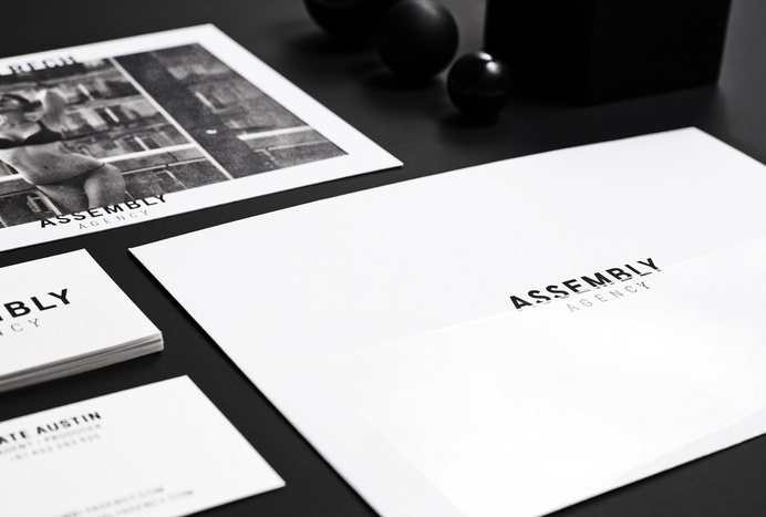 duo d uo   creative studio   Assembly Agency – branding #foiling #gloss #business #design #black #collateral #cards