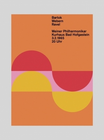Bartok, Webern, Ravel - Otl Aicher #design #graphic #poster