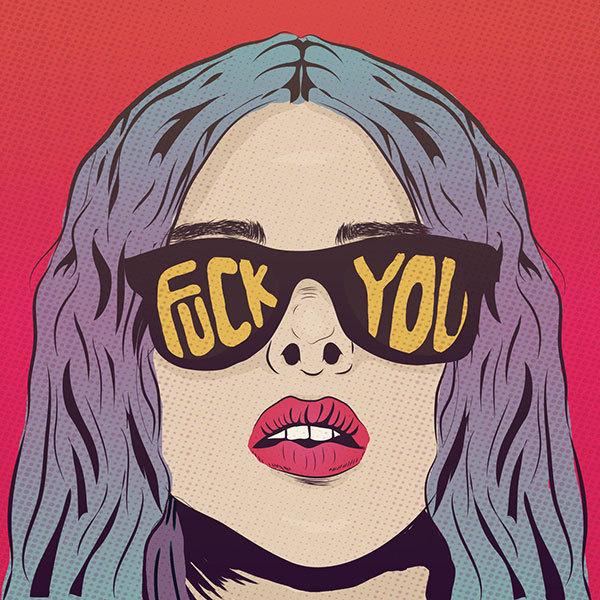 mad mari #glasses #illustration #fuck