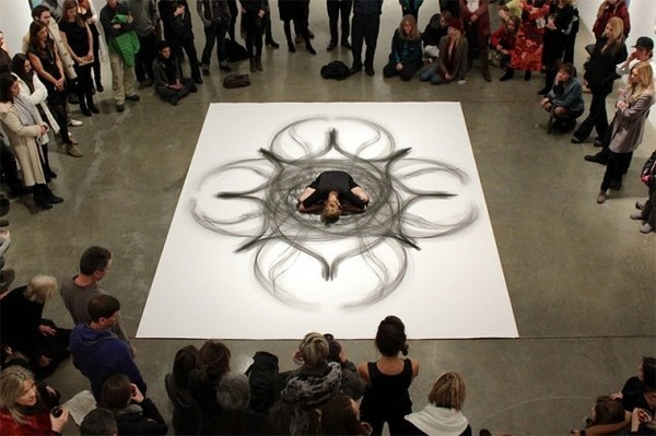 Physical Movement Translated into Symetrical Drawings 7 #performance #art