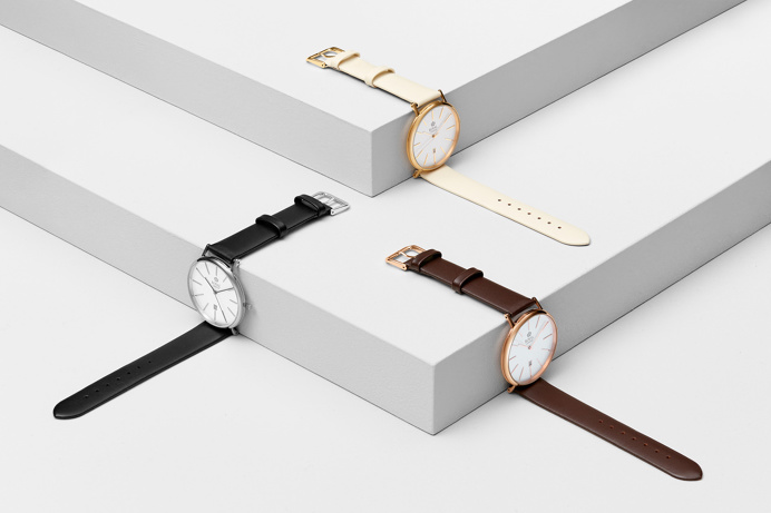 Art Direction for London Royal Watches by Querida barcelona spain mindsparkle mag 1 white geometry stairs still life time wave line leather