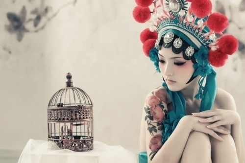 DeadFix » Caged #girl #japanese #chinese #traditional #ethnic