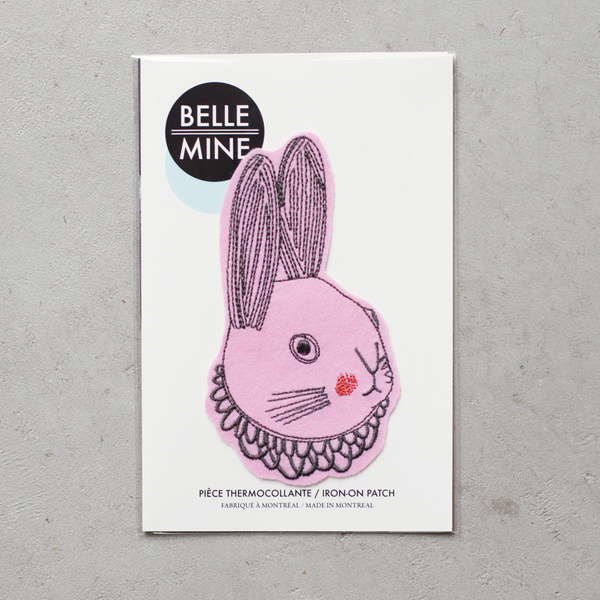 Image of LAPIN #fashion #patch #rabbit #pink