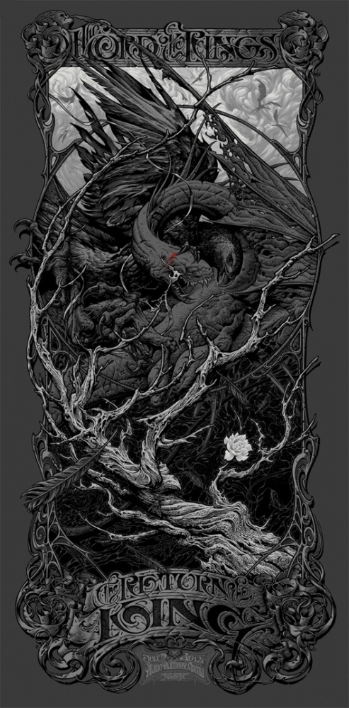 Aaron Horkey – Lord of the Rings Return of the King Variant | /Film #illustration #typography #type #poster #lord #of #the #rings #horkey