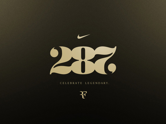 287: Celebrate Legendary #numbers #wordmark #nike #ambigram