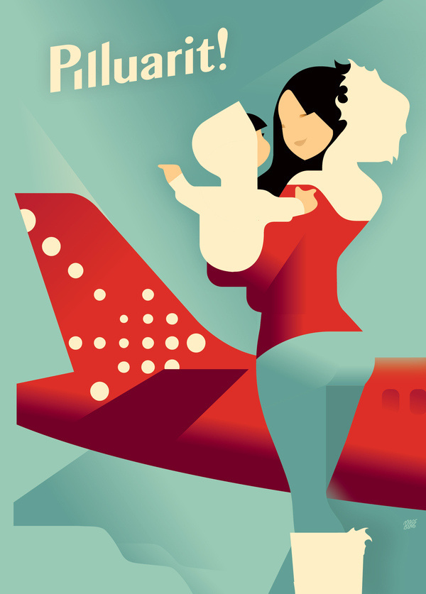 Air Greenland poster on the Behance Network #poster