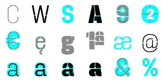 Dezen Stencil 03 - Desktop font « MyFonts #stencil #typography