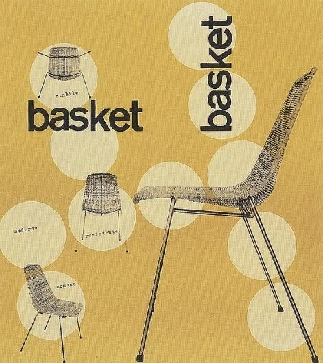 Max Huber, Basket, 1951 #max #huber #design #graphic #1951 #poster